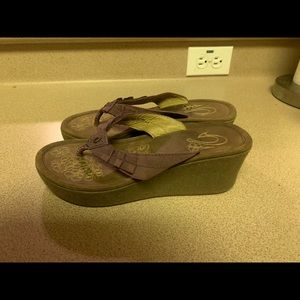 Olukai Pale Lio Brown Leather Sandals Women's 6